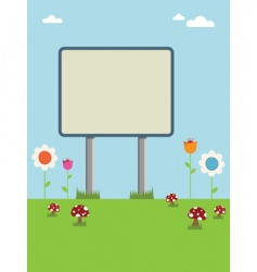 countryside sign vector image