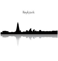 Reykjavik skyline silhouette vector