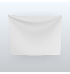 White banner with folds background vector