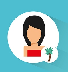 Avatar icon beach vector