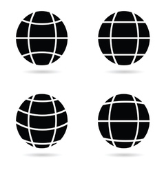 ball silhouette vector image