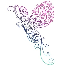 Butterfly ombre vector