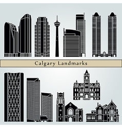 Calgary landmarks and monuments vector