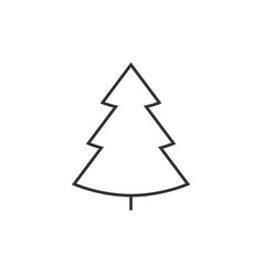 christmass tree line icon vector image vector image