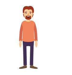 Colorful image caricature full body male person vector