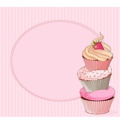 Cupcake place card vector