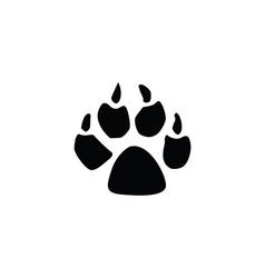 Dog footprint vector