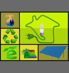 Ecology and alternative energy vector