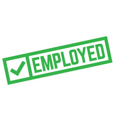 Employed stamp typ vector