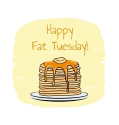 Fat Tuesday vector image