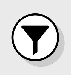 Filter simple sign flat black icon in vector