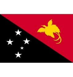 Flag of papua new guinea correct size color vector