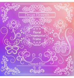 floral design elements Pink and white vector image vector image