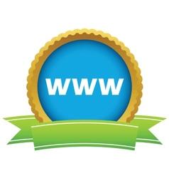Gold www logo vector