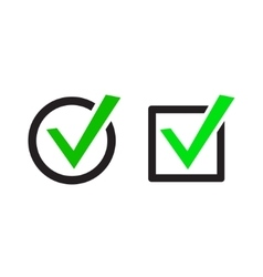 Green Check Marks Icons vector image vector image
