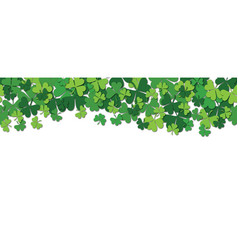 happy saint patrick s day horizontal seamless vector image