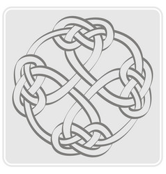 Icon with celtic art and ethnic ornamets vector