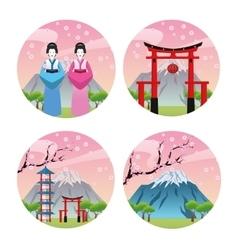 Japan culture design vector