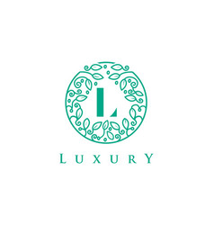 l letter logo luxurybeauty cosmetics logo vector image vector image