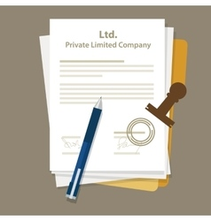 Ltd private limited company types of business vector