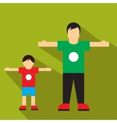 Man and children flat icon vector