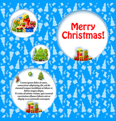 merry christmas composition vector image vector image