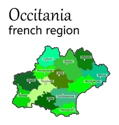 Occitania french region map vector