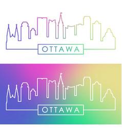 ottawa skyline colorful linear style editable vector image