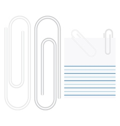 Paper clip vector image vector image