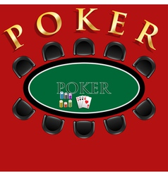 Poker table vector