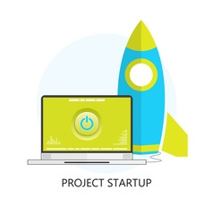 Project startup flat design icon vector