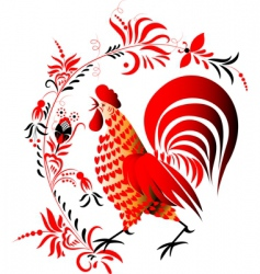 red cock vector image vector image