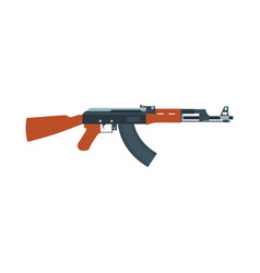 rifle gun assault weapon machine military icon vector image vector image