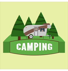 Rv camping logo and badge vector