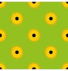 Sunflower seamless pattern vector image vector image