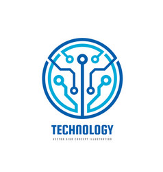 Technology - logo template vector