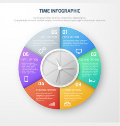 Time schedule infographic with clock and vector
