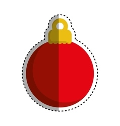 xmas decorative ball vector image vector image
