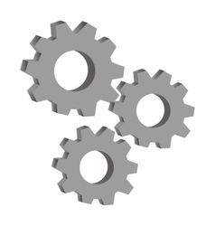 Gears engineering design vector