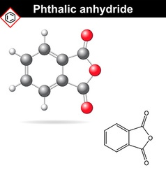 Phthalic anhydride molecule vector