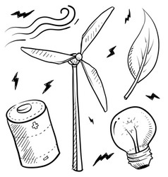Doodle power source wind vector
