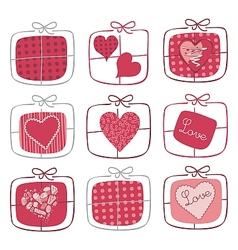 Valentine gifts set vector
