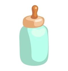Baby milk bottle icon cartoon style vector