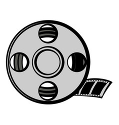 Film reel icon cartoon vector