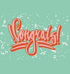 Congratulation street style graffiti on green vector