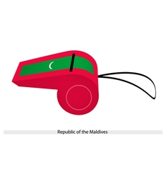 A whistle of republic of the maldives vector