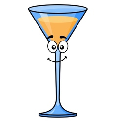 Cartoon tropical cocktail or martini vector