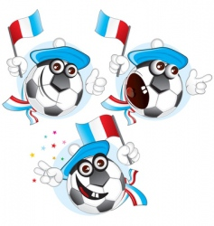 France cartoon ball vector