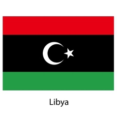Flag of the country libya vector