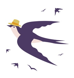 Stylish swallow vector